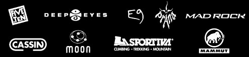 Hersteller: Cassin, Deep Eyes, E9 / enove, Mad Rock, Mammut, Moon, Five Ten, La Sportiva